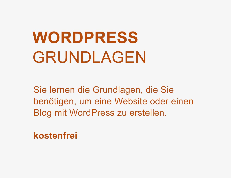 WordPress Grundlagen – Kostenfrei